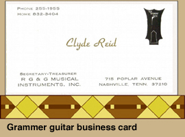 Clyde's Business card